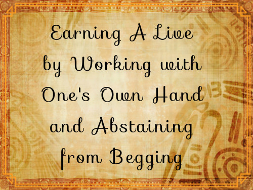 Earning A Live by Working