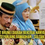 Hanya 6 Jam Waktu Kerja di Brunei Sepanjang Ramadhan