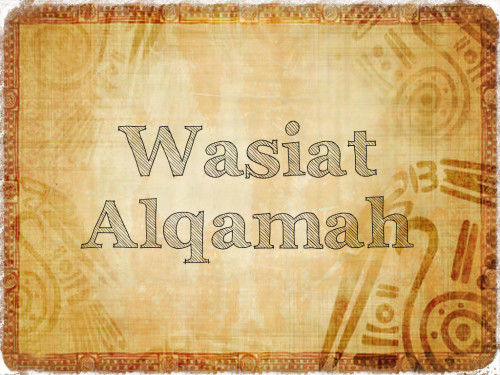 Wasiat Alqamah