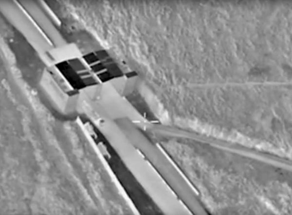 An undated frame grab taken from a video made available by the Russian Defence Ministry in Moscow, Russia December 2, 2015, shows the Turkish-Syrian border crossing. REUTERS/Russian Defence Ministry/Handout
